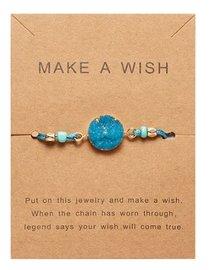 Giftcard met armband - Blauw