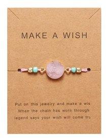 Giftcard met armband - Roze
