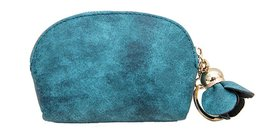 Coin purse PU leather met sleutelring - Teal