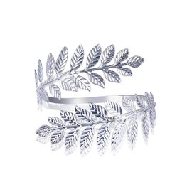Uper-arm armband leafs - zilver