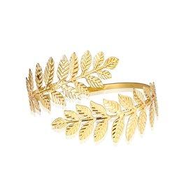 Uper-arm armband leafs - Goud