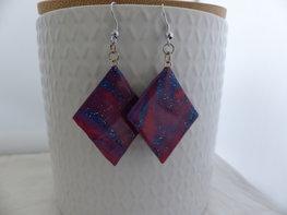 Handmade wiebertjes oorbellen - multicolor