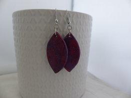 Handmade ovalen oorbellen - multicolor