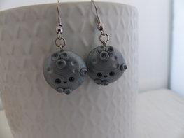 Handmade moon oorbellen - zilverkleurig