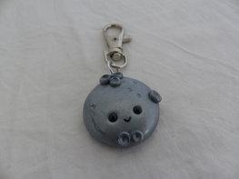 Handmade moon sleutelhanger - zilverkleurig