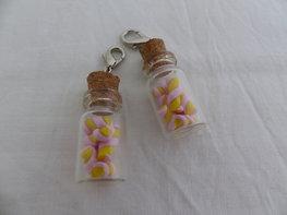 Handmade twisted spekjes in glazen flesje