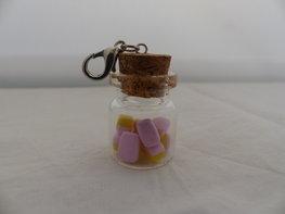 Handmade schuimblokken in breed glazen flesje