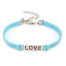 Armband love - blauw