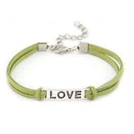 Armband love - groen