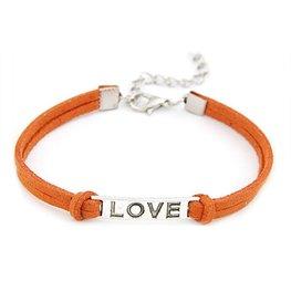 Armband love - oranjebruin