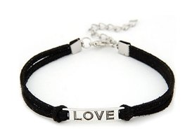 Armband love - zwart