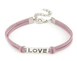 Armband love - roze