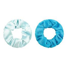 Scrunchie set glitter - Blauw