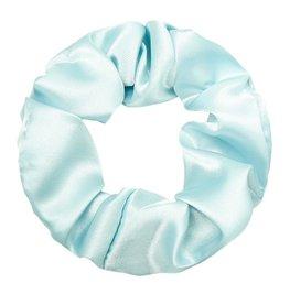 Scrunchie satijn- Grijsblauw