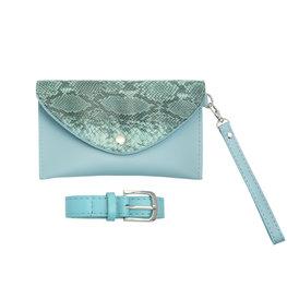 Kleine tas/Heup tas met riem snake - Blauw