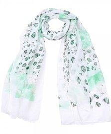 Sjaal luipaard print glitter - Groen