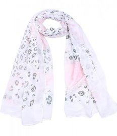 Sjaal luipaard print glitter - Roze