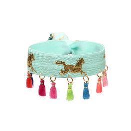 Armband unicorn blauw
