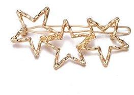 Haarspeld stars - Goud