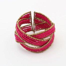 Armband boho - Roze