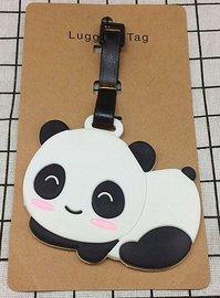Bagage label/luggage tag panda liggend