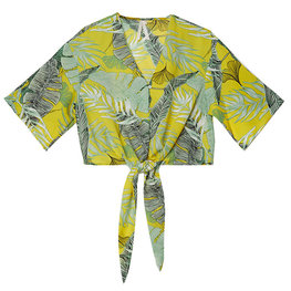 Blouse summer leaves  Maat S