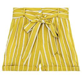 Korte broek stripes - Geel Maat S
