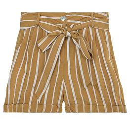 Korte broek stripes - Camel Maat M