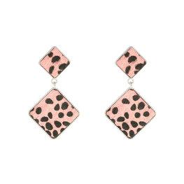 oorbellen spots - Roze