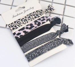 Ibiza elastiekjes - Hair tie - animal print