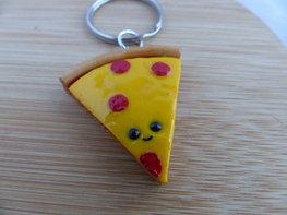 Handmade sleutelhanger - pizza punt