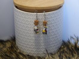 Handmade oorbellen - Engelse drop jars