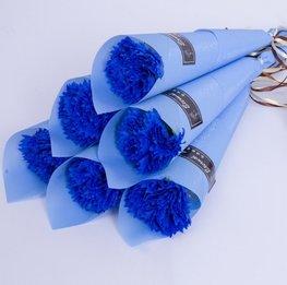 Zeep bloem in verpakking - blauw