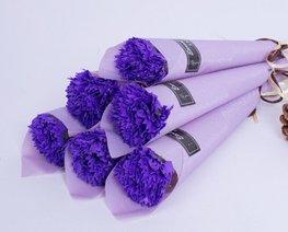 Zeep bloem in verpakking - Paars