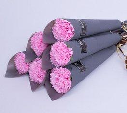 Zeep bloem in verpakking - Roze