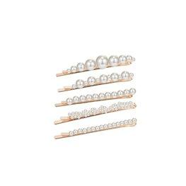 Set schuifjes met parels