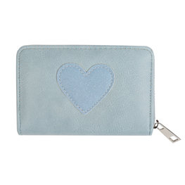 Portemonnee hartje - Blauw