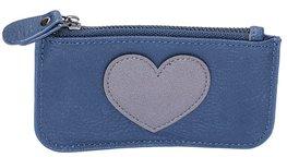 Coin purse heart - Blauw