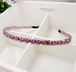 Haarband kristal kralen paars