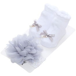baby set - sokjes met haarband