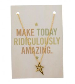 Giftcard met ketting - Gold star
