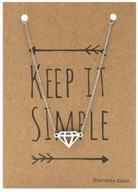 Giftcard met ketting - Diamond
