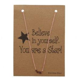 Giftcard met ketting - Stars