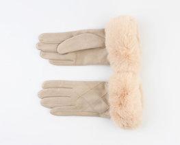 Handschoenen furr - Taupe