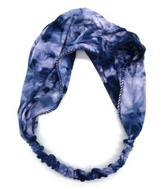 Haarband - Tie dye dark blue