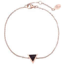 Armband marble triangle - Zwart/Goud