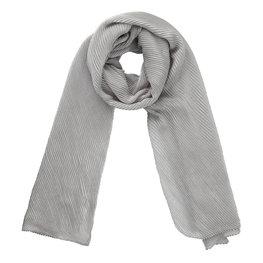 Sjaal plisse - Zilvergrijs