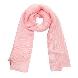 Sjaal plisse - Zacht roze