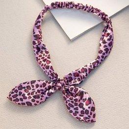 Elastische haarband - Panter paars