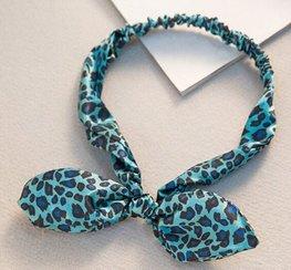 Elastische haarband - Panter Blauw